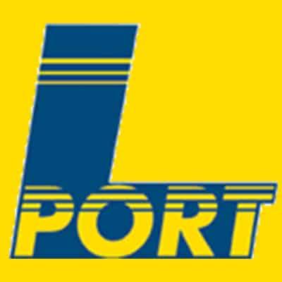 L-Port Logo auf gelben Hintergrund